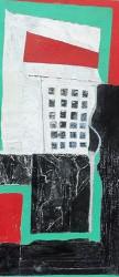 Buildings 5 Watercolour, acrylic, pastel, pencil 61x34cm(framed