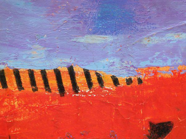 Shore Line Watercolour, acrylic, pastel, pencil 21x26cm (framed)